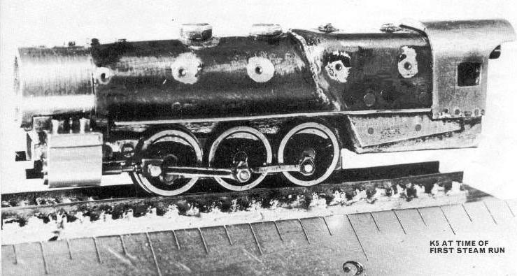 K5 at the time of the first steam run